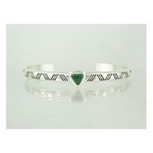 Sterling Silver Malachite Bracelet (BR4094)