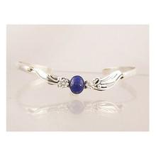 Sterling Silver Lapis Bracelet (BR4113)