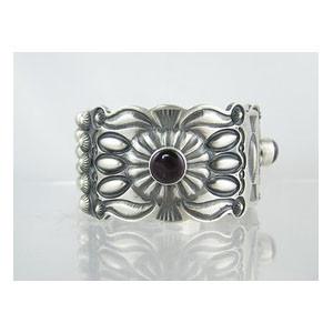 Handmade Sterling Silver Sugilite Bracelet - Large