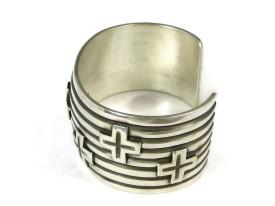 Silver Cross Bracelet by Andy Cadman