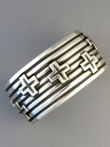 Silver Cross Bracelet by Andy Cadman