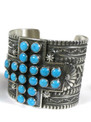 Sleeping Beauty Turquoise Cross Cuff Bracelet by Sunshine Reeves