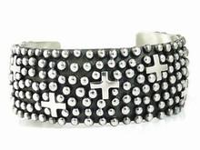 Sterling Silver Cross Bracelet by Ronnie Willie, Navajo