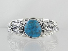Sterling Silver Kingman Turquoise Bracelet (BR4631)