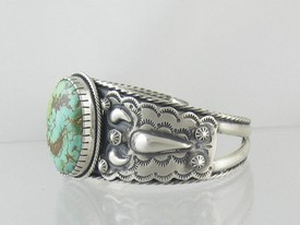 Natural Royston Turquoise Bracelet (BR4632)