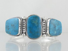 Sterling Silver Kingman Turquoise Bracelet (BR4644)