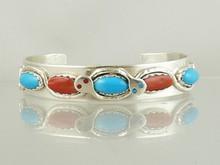 Effie Calavaza Turquoise & Coral Bracelet