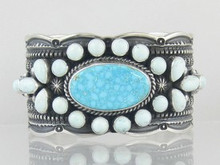 Natural Kingman Birds Eye & Dry Creek Turquoise Gem Bracelet