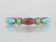 Sterling Silver Multi Gemstone Bracelet (BR4805-S)
