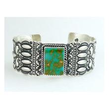 King Manassa Turquoise Bracelet by Darryl Becenti, Mens Turquoise Bracelet
