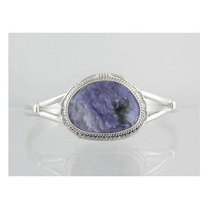 Sterling Silver Charoite Bracelet (BR4823)