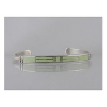 Sterling Silver Gaspeite Inlay Bracelet