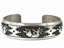 Sterling Silver Large Kokopelli Bracelet by Tommy Singer, Navajo (BR5219)