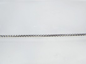 """Antiqued Sterling Silver Round Box Chain 30"""""""
