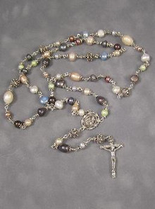 Pastel Freshwater Pearl Rosary Beads