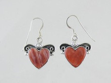 Sterling Silver Spiny Oyster Shell Heart Earrings