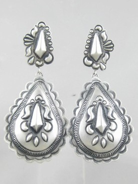 Handmade Sterling Silver Earrings - Eugene Charley (ER0868)
