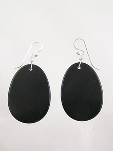 Jet Slab Earrings