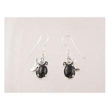 Sterling Silver Onyx Dangle Earrings (ER1924)