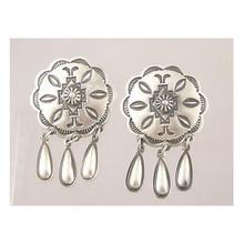 Sterling Silver Concho Dangle Earrings - Delbert Gordon (ER1954)