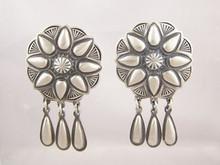 Sterling Silver Concho Dangle Earrings - Delbert Gordon (ER1955)