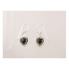 Sterling Silver Onyx Dangle Earrings (ER2007)