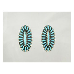 Turquoise Needle Point Cluster Earrings