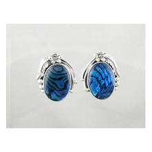 Sterling Silver Paua Shell Earrings (ER2188)