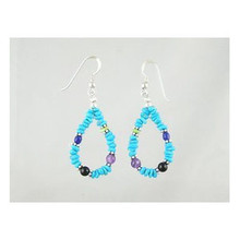 Turquoise & Gemstone Beaded Earrings (ER2191)