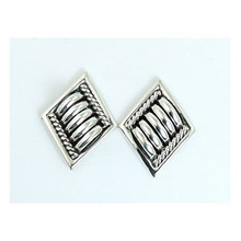 Sterling Silver Earrings by Thomas Charley, Navajo (ER2460)