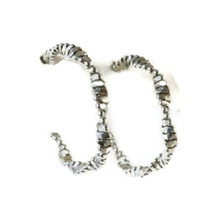 Sterling Silver Hoop Earrings by Nashina Tsosie, Navajo