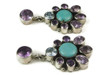 Amethyst, Turquoise & Topaz Cluster Earrings by Emma Lincoln