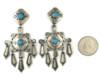 Handmade Silver Sleeping Beauty Turquoise Dangle Earrings