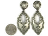 Hand Stamped Sterling Silver Dangle Earrings by Vincent Platero, Navajo