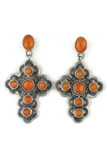 Spiny Oyster Shell Cross Earrings by Happy Piaso