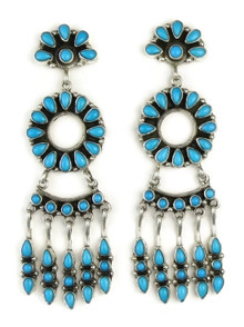Sleeping Beauty Turquoise Chandelier Dangle Earrings by Emma Lincoln
