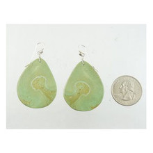 Turquoise Slab Earrings by Ronald Chavez