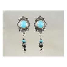 Sterling Silver Turquoise Dangle Earrings (ER3221)
