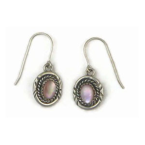 Sterling Silver Pink Mother of Pearl Earrings (ER3374)