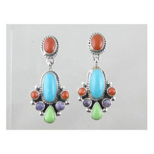 Multi Gemstone Dangle Earrings (ER3608)