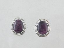 Sterling Silver Purple Spiny Oyster Shell Earrings (ER5342)