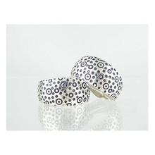 Sterling Silver Stamped Hoop Clip On Earrings