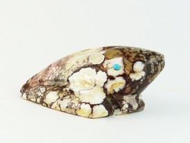 Native American Zuni Indian Wild Horse Frog Fetish by Burt Awelagte