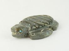 Zuni Crawstone Turtle Fetish Carving by Burt Awelagte (FT0178)