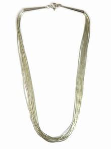 """10 Strand Liquid Silver Necklace Adjustable 18"""" - 20"""""""