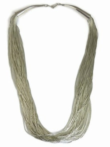 "50 Strand Liquid Silver Necklace Adjustable Length 20"" - 22"""