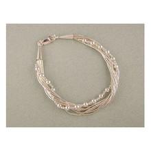 Liquid Silver Beaded Bracelet