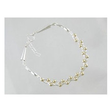 Liquid Silver Gold Bead Bracelet