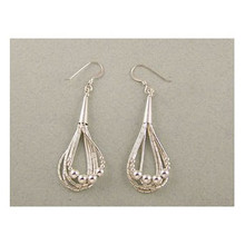 Liquid Silver Bead Earrings