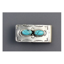 Kingman Turquoise Money Clip by Jan Mariano (MC281)